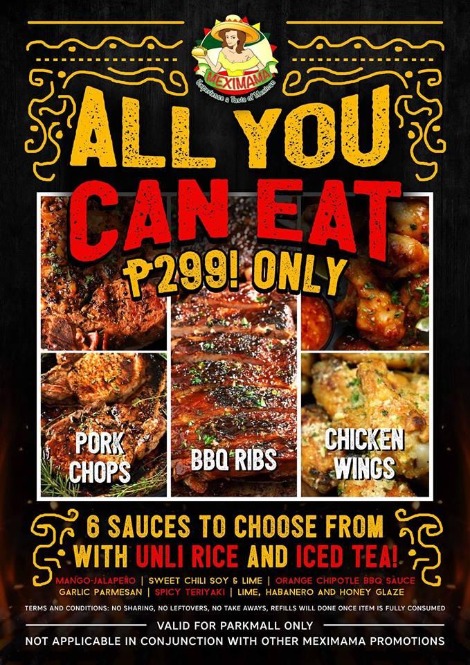 meximama s all you can eat at p299 parkmall rh parkmallcebu com